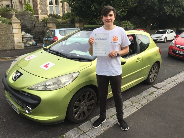 Bradley Passes With A Line Driving School 21st September