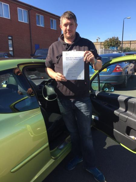 Russell Passes With A Line Driving School 22nd September 2016