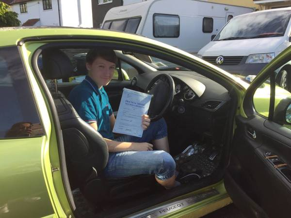 RJ Passes With A Line Driving School 1st October 2016