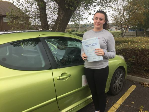 Jordan Passes With A Line Driving School 28th October 2016