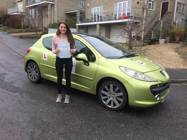 Mollie Passes Her Driving Test Today With A Line Driving School