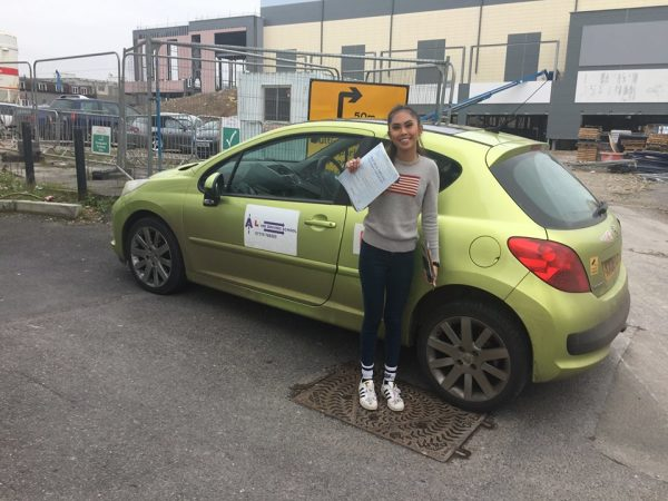 Nicole Passed Today On 9th February, 2017, With A Line Driving School