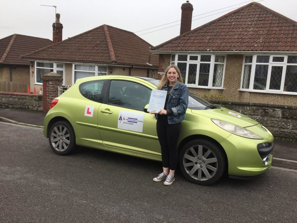 Well Done! Myah Passes Her Driving Test Today 06/03/17 With A Line Driving School