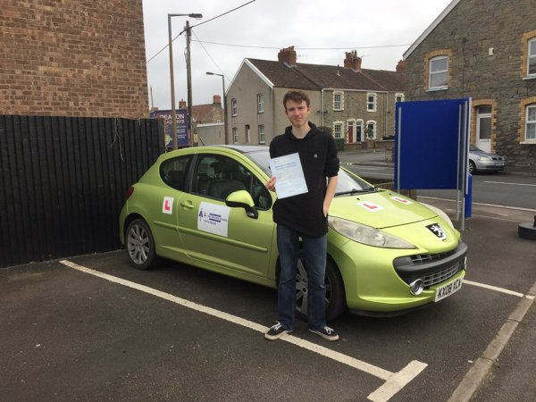 Sam Passes Today, 10th March 2017, With A Line Driving School