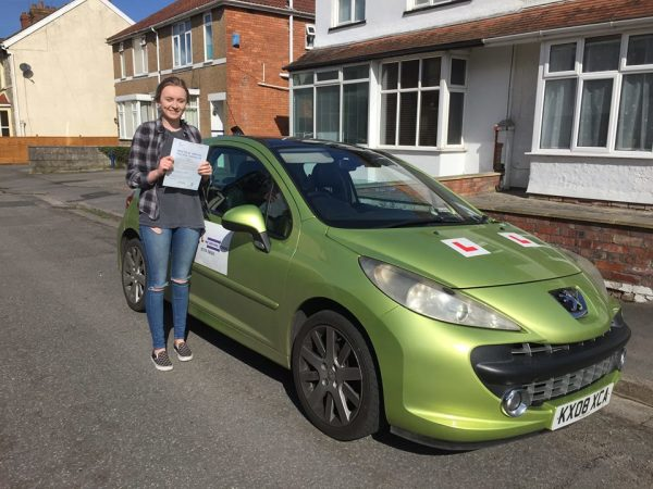 Ella Passes Her Driving Test Today, 13th March 2017, With A Line Driving School