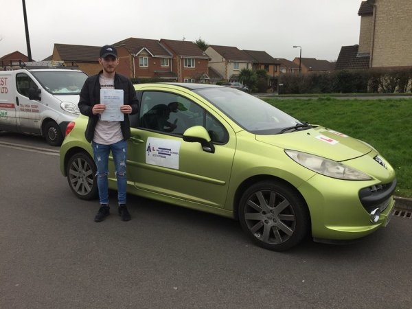 Luke Passes His Driving Test Today, 13th March 2017, With A Line Driving School