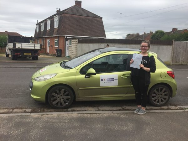 Hollie Passes Her Driving Test Today, 4th April 2017, With A Line Driving School