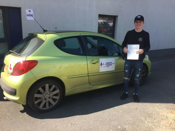 Liam Passes His Driving Test Today, 7th April 2017, With A Line Driving School