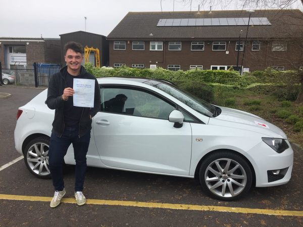 Luke Passes His Driving Test Today, 20th April 2017, With A Line Driving School