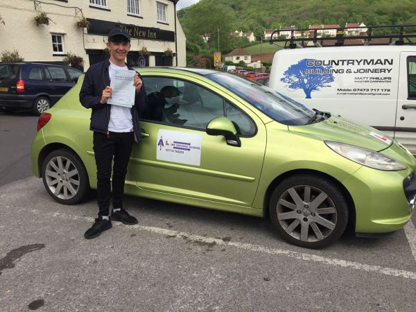 Mitch Passes His Driving Test Today, 12th May 2017, With A Line Driving School