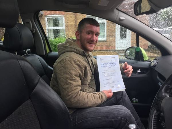 Steven Passes His Driving Test Today, 17th May 2017, With A Line Driving School