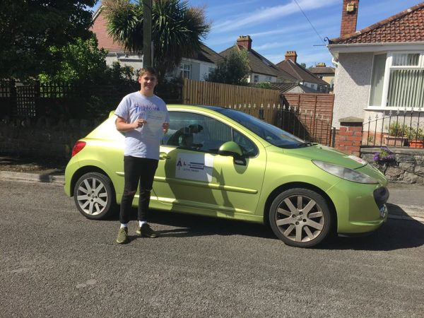 Lewis Passes His Driving Test Today, 18th May 2017, With A Line Driving School