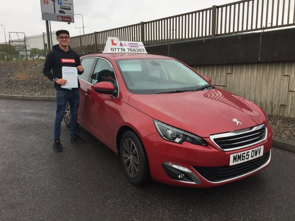 Aaron Passes His Driving Test Today, 5th June 2017, With A Line Driving School