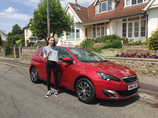 Abigail Passes Her Driving Test Today, 14th June 2017, With A Line Driving School