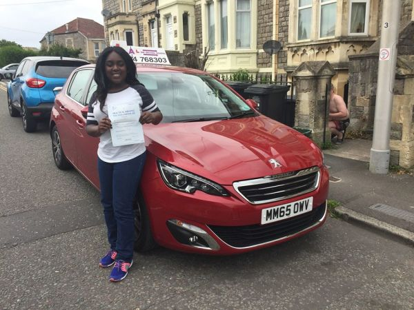 Faith Passes Her Driving Test Today, 26th June 2017, With A Line Driving School