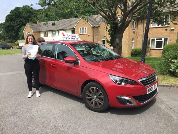 Lillie Passes Her Driving Test Today, 3rd July 2017, With A Line Driving School