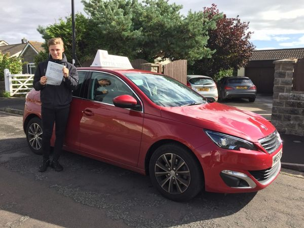 Sam Passes His Driving Test Today, 3rd August 2017, With A Line Driving School