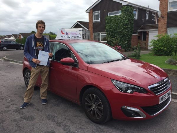 James Passes His Driving Test Today, 3rd August 2017, With A Line Driving School