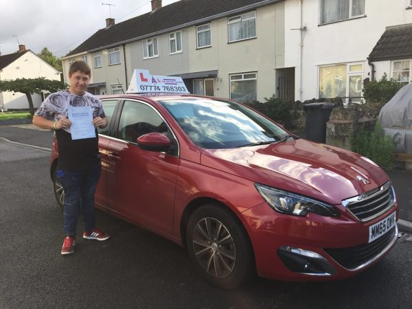 Bradley Passes His Driving Test Today, 4th August 2017, With A Line Driving School
