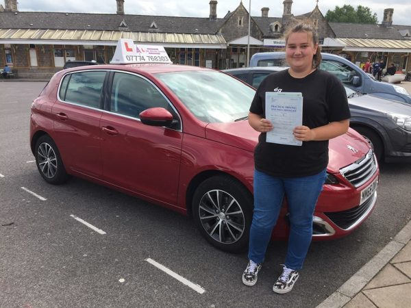 Becky Passes Her Driving Test Today, 16th August 2017, With A Line Driving School