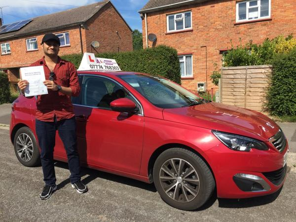 Krishna Passes His Driving Test Today, 28th August 2017, With A Line Driving School