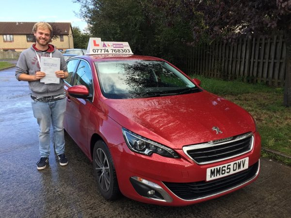 Darren Passes His Driving Test Today, 14th September 2017, With A Line Driving School