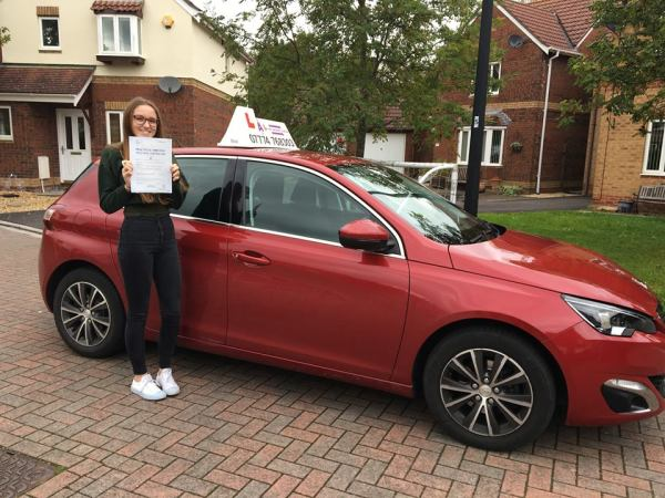 Charlotte Passes Her Driving Test Today, 11th October 2017, With A Line Driving School