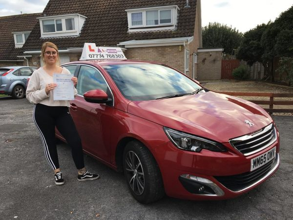 Beth Passes Her Driving Test Today, 2nd November 2017, With A Line Driving School