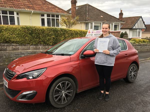 Emily Passes Her Driving Test Today, 7th November 2017, With A Line Driving School