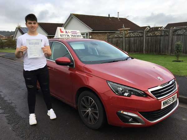 Nick Passes His Driving Test Today, 15th November 2017, With A Line Driving School