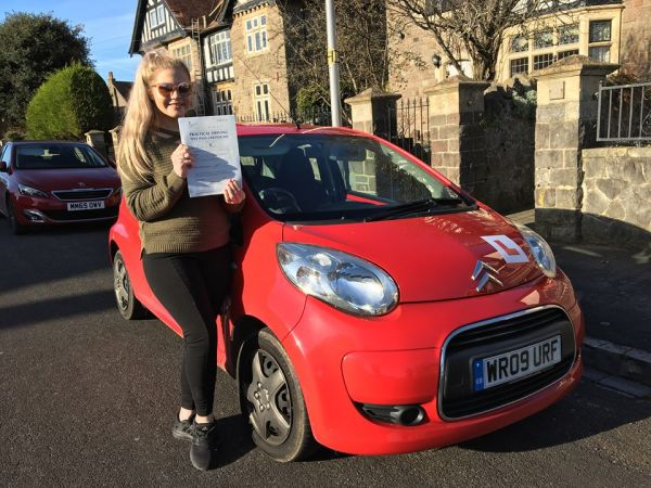 Molly Passes Her Driving Test Today, 17th November 2017, With A Line Driving School