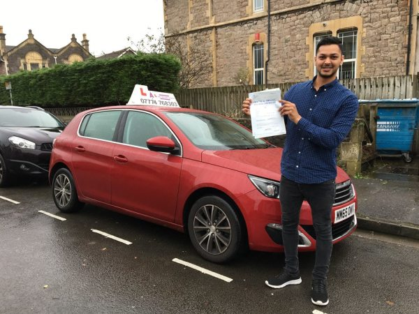 Jaswinder Passes His Driving Test Today, 20th November 2017, With A Line Driving School