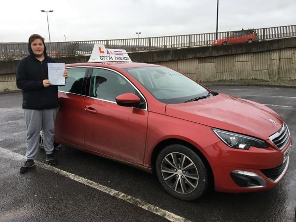 Dean Passes His Driving Test Today, 21st December 2017, With A Line Driving School