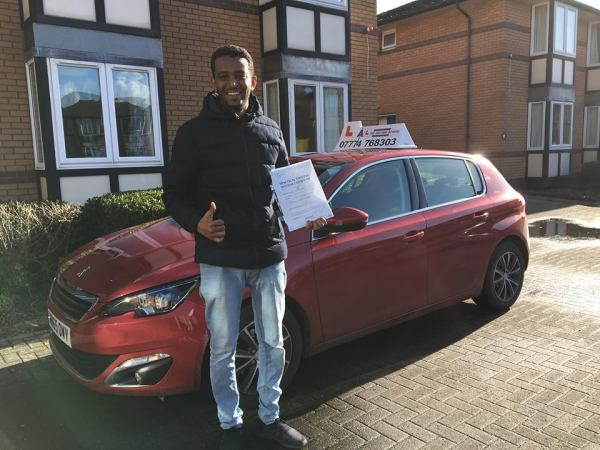 Musab Passes His Driving Test Today, 9th February 2018, With A Line Driving School
