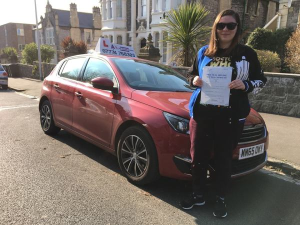 Hannah Passes Her Driving Test Today, 23rd February 2018, With A Line Driving School