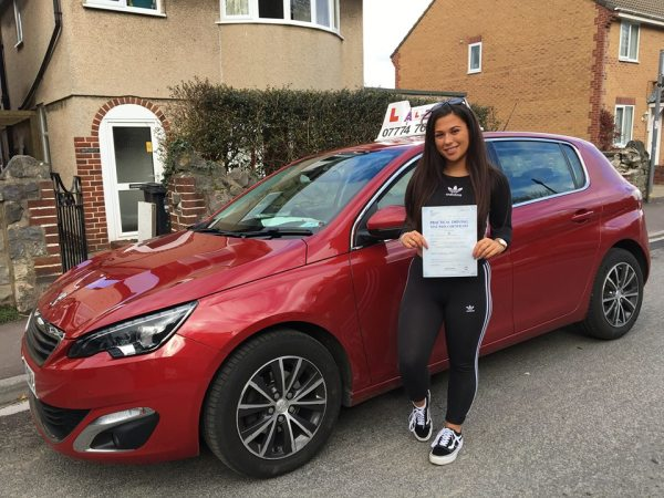 Chloe Passes Her Driving Test Today, 15th March 2018, With A Line Driving School