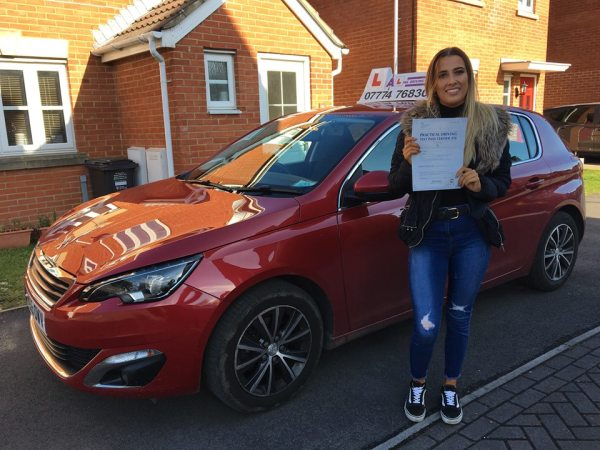 Maddi Passes Her Driving Test Today, 20th March 2018, With A Line Driving School