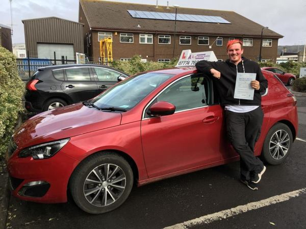Reece Passes His Driving Test Today, 23rd March 2018, With A Line Driving School