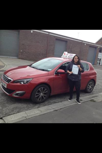 Farhath Passes Her Driving Test, 2nd April 2018, With A Line Driving School