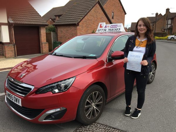 Beth Passes Her Driving Test Today, 30th April 2018, With A Line Driving School