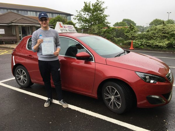 Jack Passes His Driving Test Today, 26th May 2018, With A Line Driving School