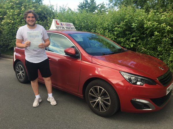 Ryan Passes His Driving Test Today, 2nd June 2018, With A Line Driving School