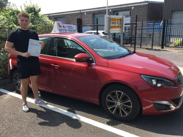 Ross Passes His Driving Test Today, 4th June 2018, With A Line Driving School
