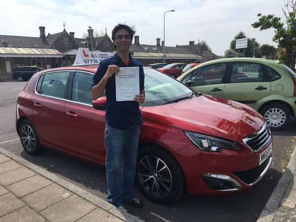 Parag Passes His Driving Test Today, 21st May 2018, With A Line Driving School