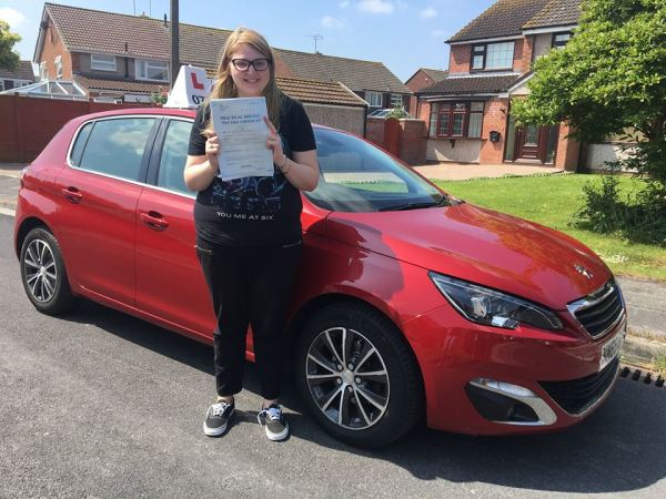 Hannah Passes Her Driving Test Today, 12th June 2018, With A Line Driving School