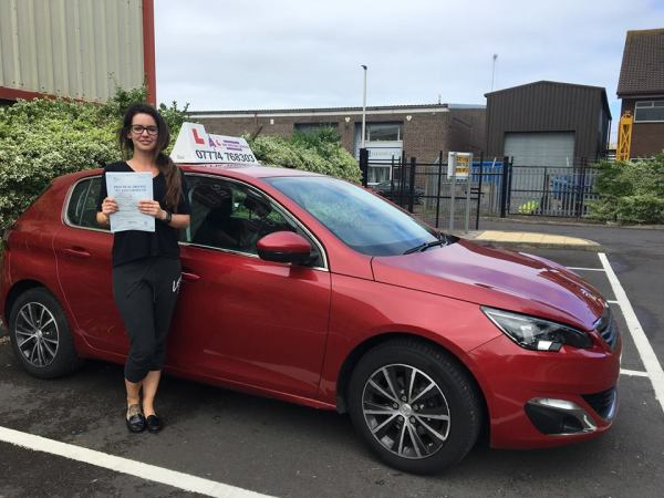 Sam Passes Her Driving Test Today, 14th June 2018, With A Line Driving School