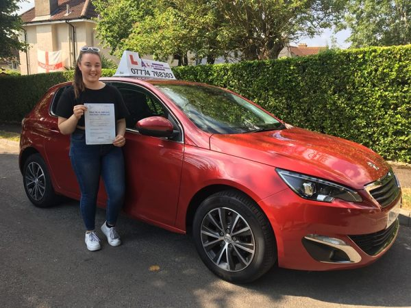 Katie Passes Her Driving Test Today, 9th July 2018, With A Line Driving School