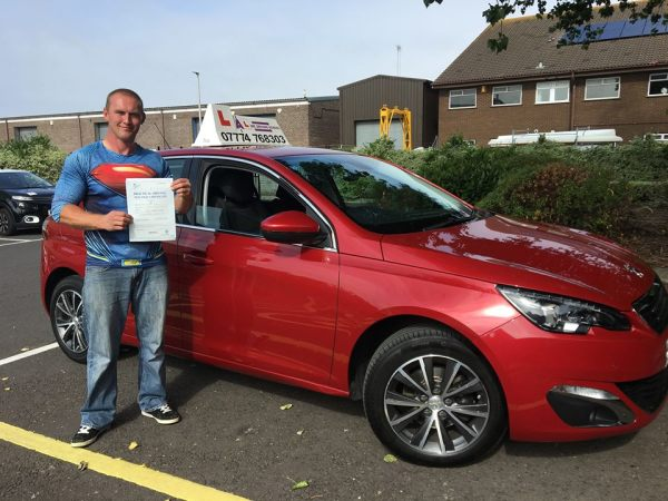 Craig Passes His Driving Test Today, 3rd August 2018, With A Line Driving School