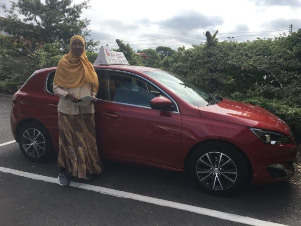Fatima Passes Her Driving Test Today, 6th August 2018, With A Line Driving School