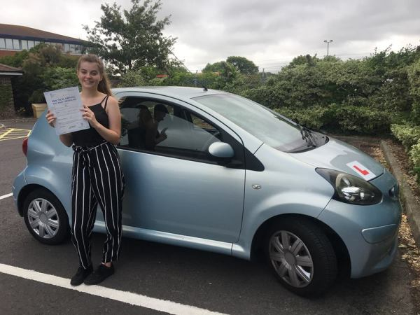 Abi Passes Her Driving Test Today, 7th August 2018, With A Line Driving School
